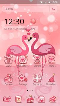 Charming Flamingo Theme screenshot 3