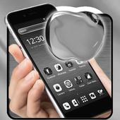Silvery Shine Apple Theme icon