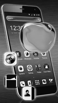 Silvery Shine Apple Theme apk screenshot