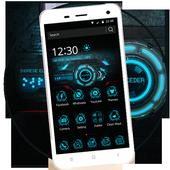 Cool blue phone theme icon