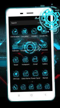 Cool blue phone theme apk screenshot