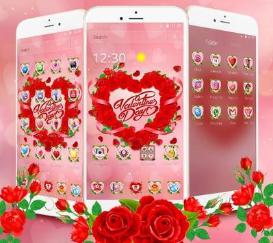 Valentine Love Rose Heart Theme poster