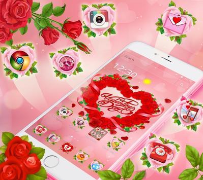 Valentine Love Rose Heart Theme screenshot 1