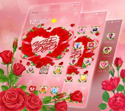 Valentine Love Rose Heart Theme screenshot 2