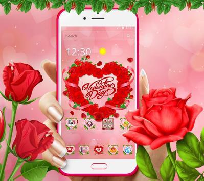 Valentine Love Rose Heart Theme screenshot 4