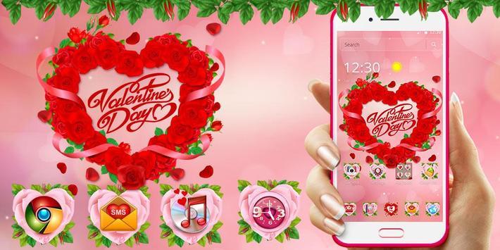 Valentine Love Rose Heart Theme screenshot 6