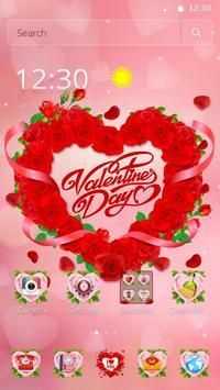 Valentine Love Rose Heart Theme screenshot 7