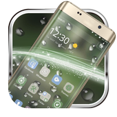 The drizzle of the mobile phone theme icon
