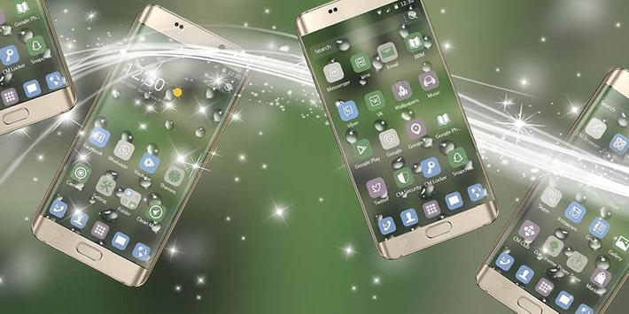 The drizzle of the mobile phone theme poster