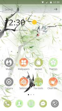 Swallows in spring return to theme of mobile phone apk screenshot