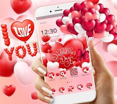 Valentine Romantic Love Heart Theme poster