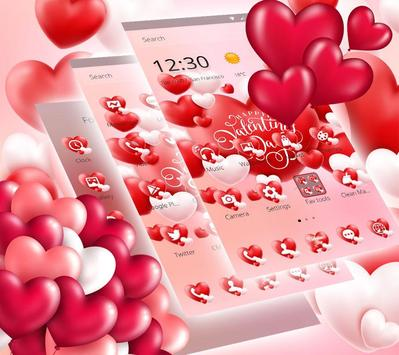 Valentine Romantic Love Heart Theme screenshot 5