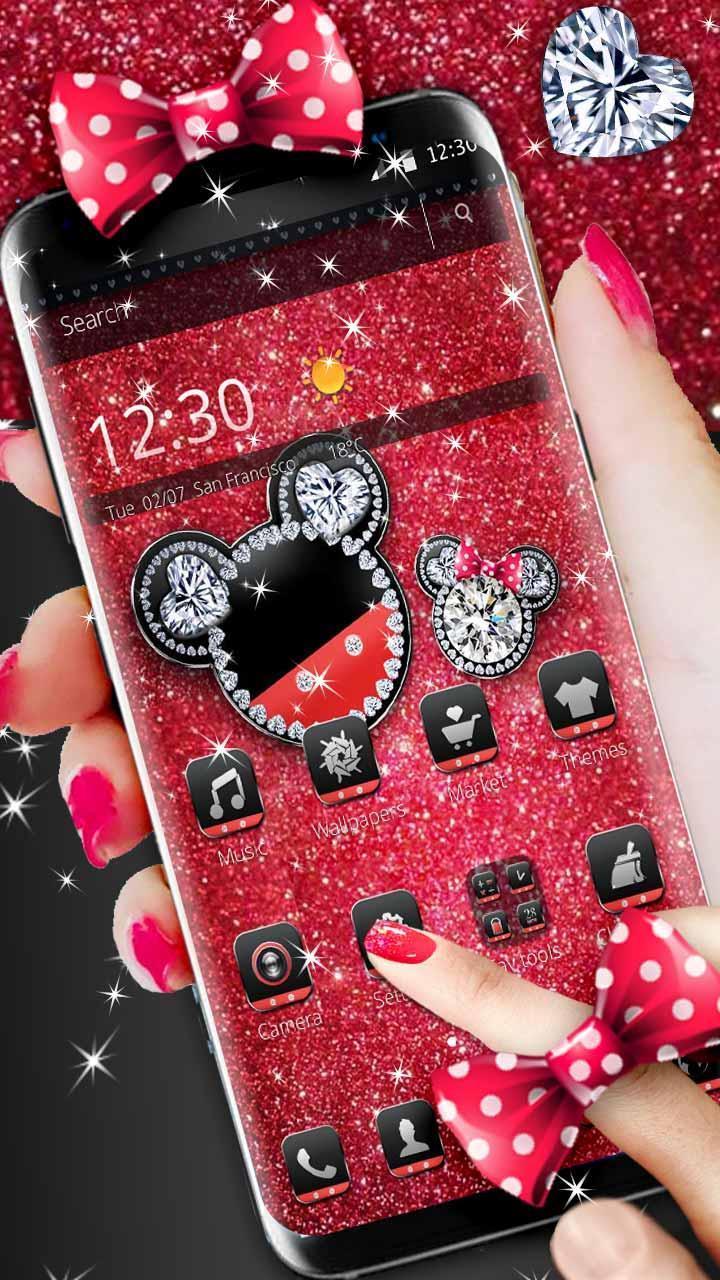 Android 用の ダイヤモンドミッキーミニーバレンタインデーのテーマ