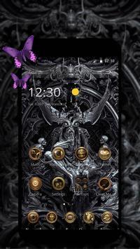 Dark sculpture dark sacrificial theme poster