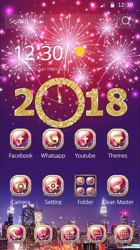 happy new year mobile theme screenshot 4