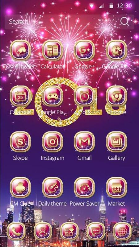 happy new year mobile theme screenshot 6