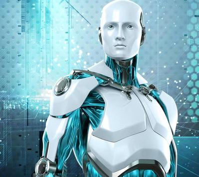 3D Neon Robot Theme ảnh chụp màn hình 1