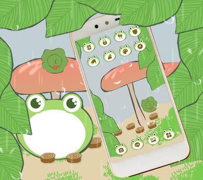 Cute Traveling Frog Theme screenshot 1