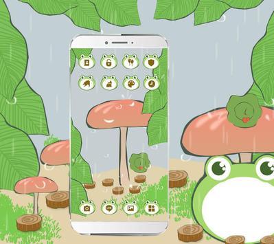 Cute Traveling Frog Theme screenshot 2