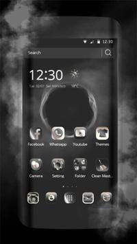 Theme for Huawei P8 & P10 Black Elegant Smoke poster