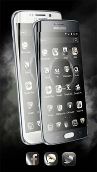 Theme for Huawei P8 & P10 Black Elegant Smoke screenshot 1