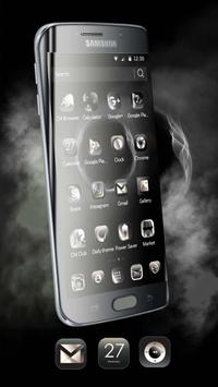 Theme for Huawei P8 & P10 Black Elegant Smoke screenshot 4