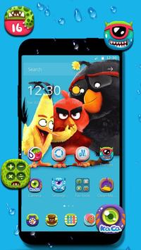Angry bird wallpaper theme poster