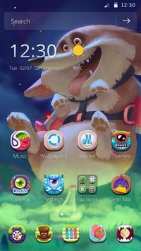 Cute puppy cartoon theme poster