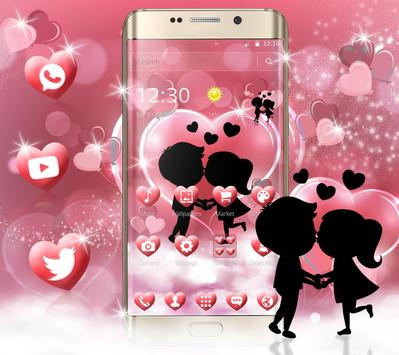 Cute Romantic Love Theme screenshot 2