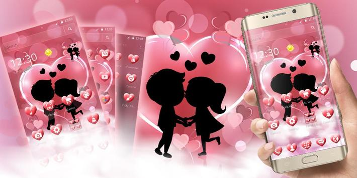 Cute Romantic Love Theme screenshot 5