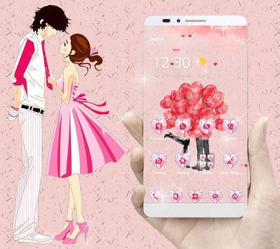 Red Balloon Romantic Valentine Couple Theme apk screenshot