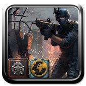 Military equipment theme soldiers icon