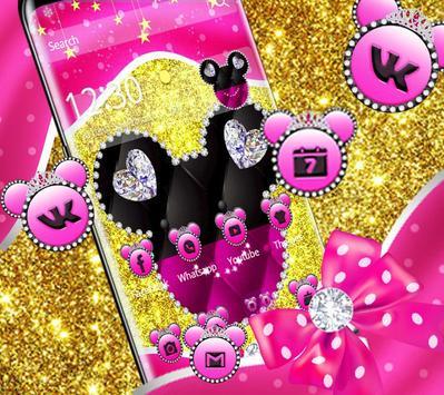 Pink golden Minny diamond Theme poster