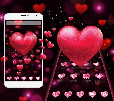 Red Heart Valentine's Day Theme screenshot 1