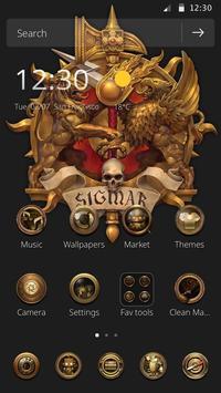 The golden skeleton theme of Athena ICON poster