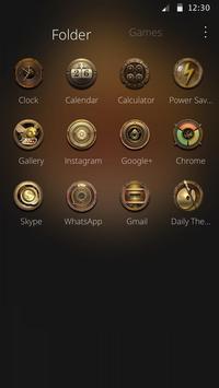 The golden skeleton theme of Athena ICON apk screenshot