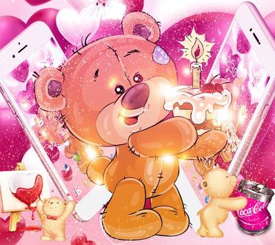 Pretty Bear Theme Love Wallpaper poster