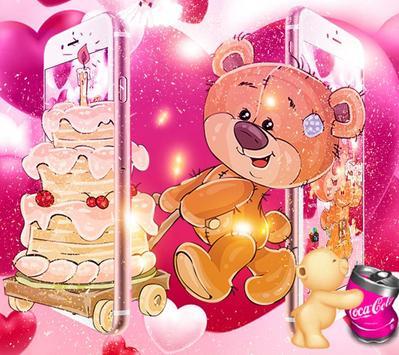 Pretty Bear Theme Love Wallpaper screenshot 1