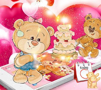 Pretty Bear Theme Love Wallpaper screenshot 2