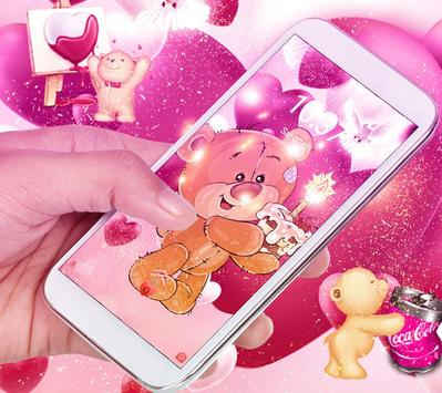 Pretty Bear Theme Love Wallpaper screenshot 3