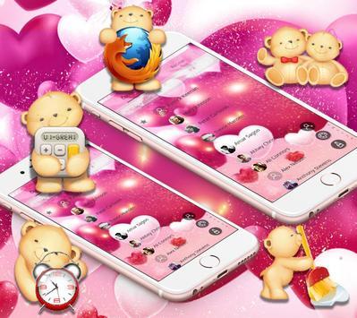 Pretty Bear Theme Love Wallpaper screenshot 4