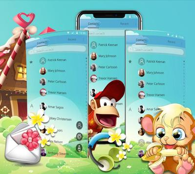 Pretty Banana-Eating Monkey Theme screenshot 4