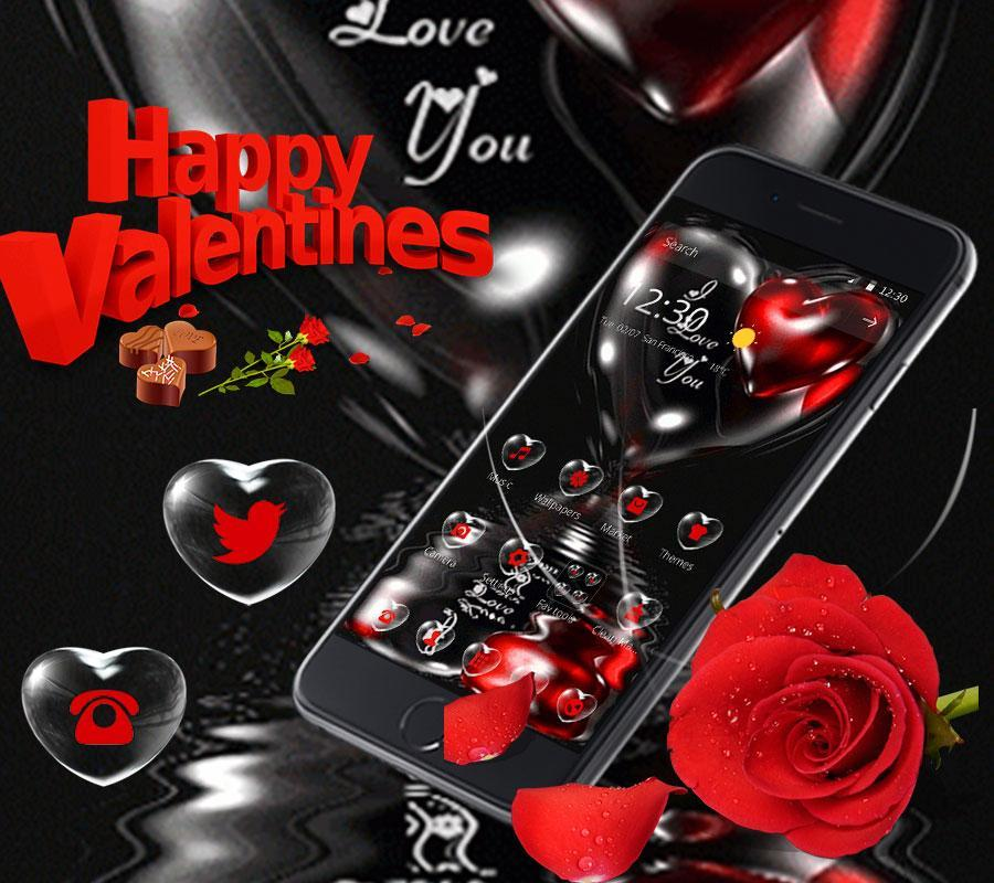 Black Red Love Rose Valentine For Android Apk Download