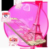 Pink Paris Eiffel Tower Launcher Theme icon