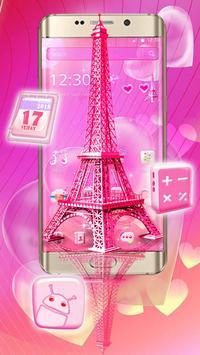Pink Paris Eiffel Tower Launcher Theme screenshot 3