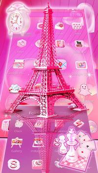 Pink Paris Eiffel Tower Launcher Theme screenshot 4