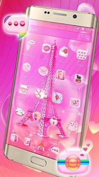 Pink Paris Eiffel Tower Launcher Theme screenshot 5