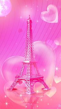 Pink Paris Eiffel Tower Launcher Theme screenshot 6
