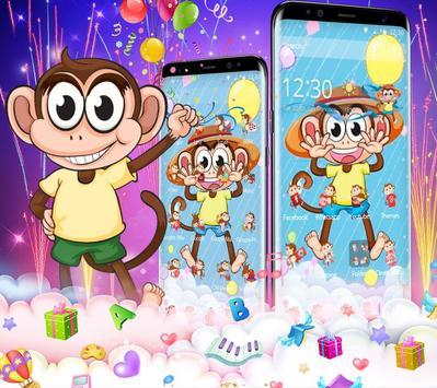 Cute Hat Monkey Theme poster