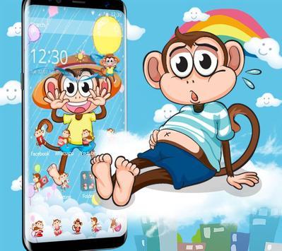 Cute Hat Monkey Theme screenshot 2